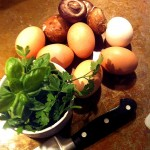 Fresh Herbs & Mushroom Omelet - an Ageless Diet Recipe