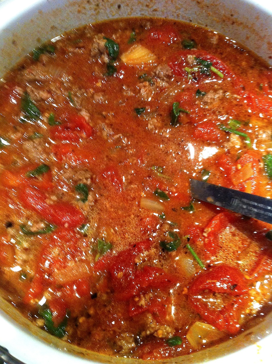 Nothing beats homemade tomato sauce with grass fed beef