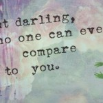 What Comparing Yourself to Others Does...